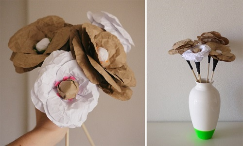 Flores de papel kraft - Destaque