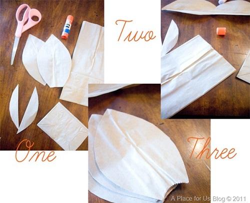 Flores feitas com saco de pão - Passo 1 - Aula 1