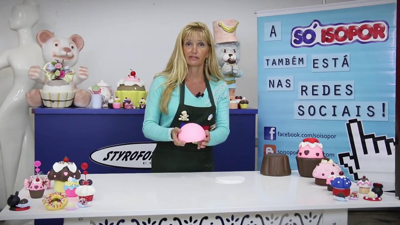 Cupcake cenográfico para festas infantis