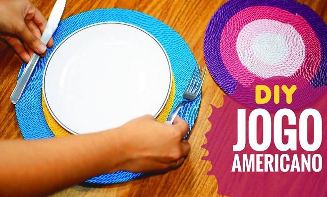 Aprenda como fazer um jogo americano gastando pouco