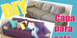 Capa de sofá simples e estilosa