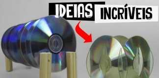 Ideias com CD! 4 peças criativas feitas rapidamente