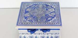 Linda caixa MDF com Azulejo Português