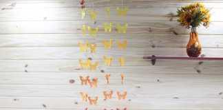 Aprenda como fazer um móbile de papel tema Borboletas