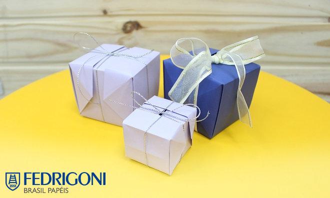 Faça uma Linda Caixa de Presente em Origami