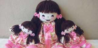 Aprenda como fazer uma boneca de pano