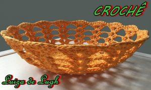 Aprenda como fazer uma cesta de crochê endurecido