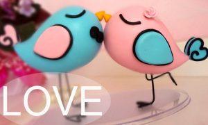 Biscuit: Topo de passarinhos para casamento
