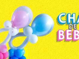 Chá de Bebê: Como fazer um centro de mesa com balões