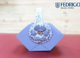 Dica de lembrancinha: Aprenda como fazer uma cestinha de papel