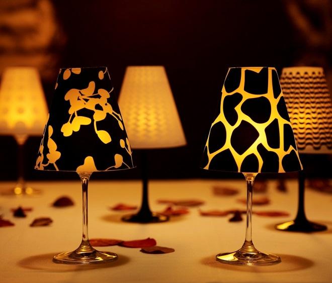 Festa e Casa: modelos de abajur decorativo - Abajur Taças de Vinho