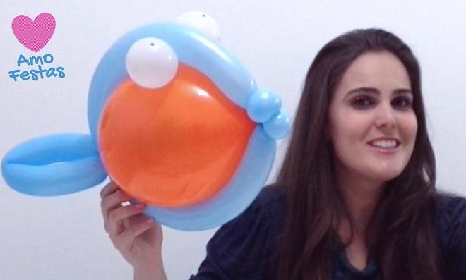 Festas: Como fazer uma decoração com peixes de balões