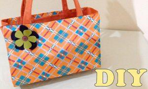 Reciclagem: Bolsa Sacola com Caixa de Leite