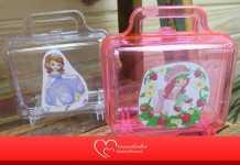 Volta às aulas! Lancheira infantil barata feita com maleta acrílica
