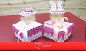 Aprenda como fazer uma caixinha de doce para festa de menina