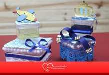 Aprenda como fazer uma caixinha de doce para festa de menino