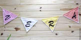 Decoração e Festas: Bandeirinhas decorativas usando cola