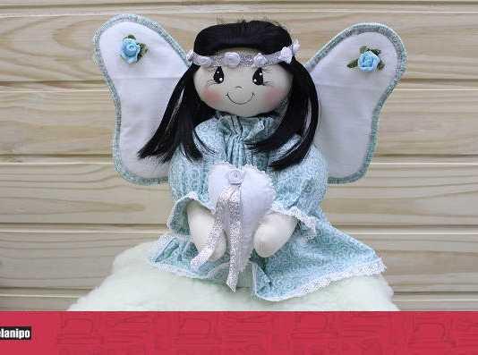 Anjinho no céu! Uma linda boneca para decoração