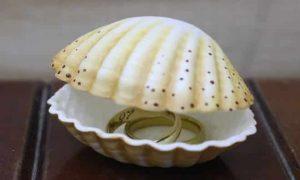 Aula rápida: Porta-joias feito de EVA no formato de concha