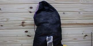 Aprenda como fazer um saco para roupa suja usando pirografia - Destaque
