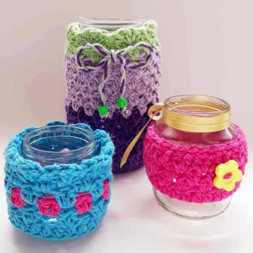 Feito Ao vivo: Aprenda como fazer peças de crochê com sobras de fios e vidros - Ilustração