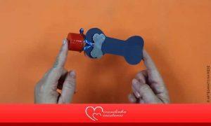 Lembrancinha Pet: Pote de acrílico com formato e decoração de osso - Destaque