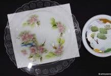 Aprenda como fazer pintura decorativa em prato usando adesivos - Destaque