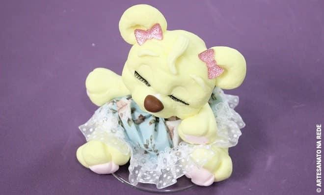 Sachê perfumado de biscuit - Ursinha princesa - Detalhe