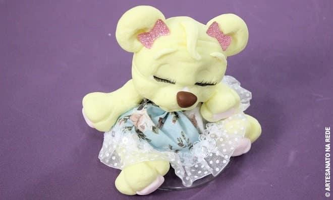 Sachê perfumado de biscuit - Ursinha princesa