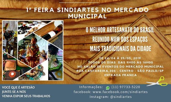1ª Feira Sindiartes acontece no mercado municipal de SP - Destaque