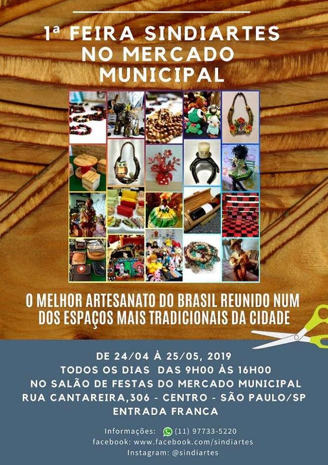 1ª Feira Sindiartes acontece no mercado municipal de SP - Divulgação