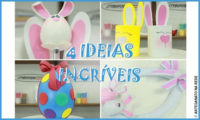 4 ideias incríveis com isopor para decoração de páscoa