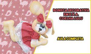 Boneca decorativa em EVA - Coelha Lulu - Destaque