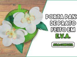 Porta pano de prato com CD e EVA - Orquídeas floridas! - Destaque