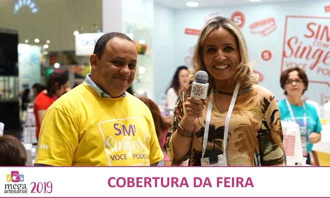 Andreia Bassan entrevista Marcelo Santos na Mega Artesanal 2019