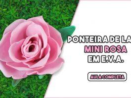 Ponteira de lápis com EVA - Mini Rosa - Destaque