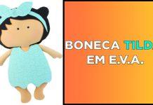 Boneca Tilda Baby em EVA com enchimento e tamanho grande - Destaque