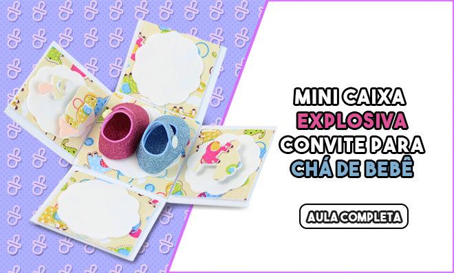 Mini caixa explosiva em EVA para lembrancinhas - Convite para chá de bebê - Destaque