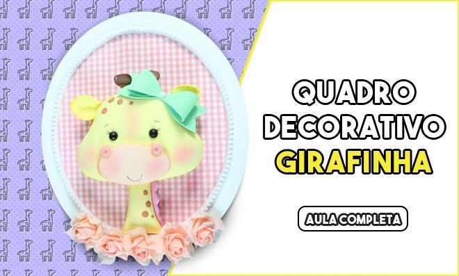 Pintura em EVA e efeito 2D - Girafa decorada com pó mágico e dublagem de tecido