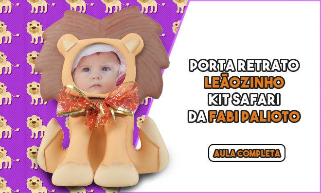 Porta-retrato de leãozinho em EVA inspirado no filme O Rei Leão - Destaque