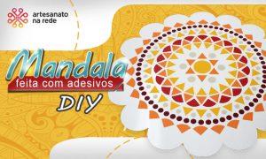 Mandala feita com adesivos para decoração e arteterapia - Destaque