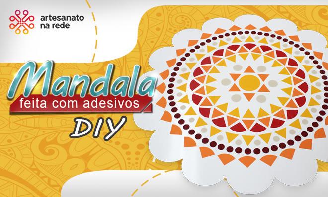 Mandala feita com adesivos para decoração e arteterapia