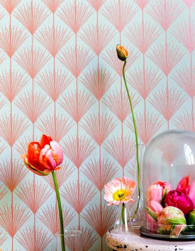 Papel de parede vintage, um grande achado - Ilustração floral