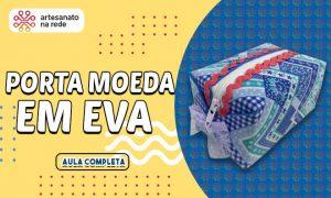 Porta-Moedas com EVA, tecido e cola - Acessório rápido e barato