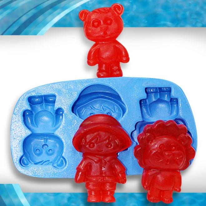 Sabonete artesanal para lembrancinhas infantis - Tema Safari - Detalhe