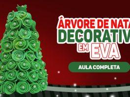 Árvore de natal em EVA para decoração e lembrancinha natalina - Destaque