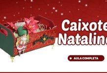 Caixote com efeito craquelado e decoração natalina - Destaque