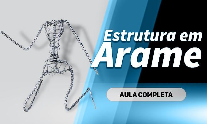 Estrutura com arame para bonecos em miniaturas - Base para Action Figure - Destaque