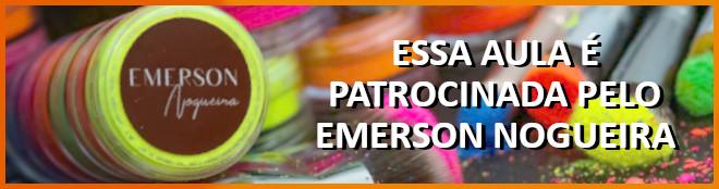 Pintura em MDF com aplicação de Pó Mágico e Glitter do Emerson Nogueira - Banner de patrocínio