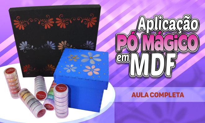 Pintura em MDF com aplicação de Pó Mágico e Glitter do Emerson Nogueira